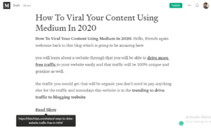 how to viral your content using medium, How to use Medium to drive Traffic to your Website, how to use medium to promote your blog, how to work with medium publications, how to submit to medium publications,
