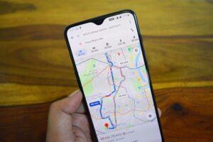 Providing directions on Google Maps.
