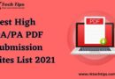 High DA PDF Submission Sites