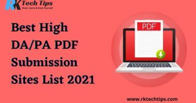 High DA PDF Submission Sites