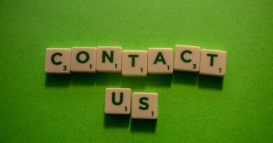 Contact us written with dominos.
