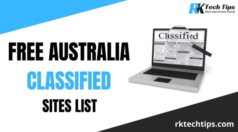 150+ Free Australia Classified Sites List 2021