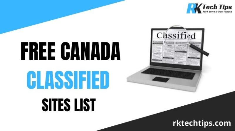 100+ Free Canada Classified Sites List 2021