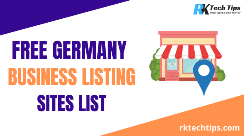 Top Free Germany Business Listing Sites List 2021