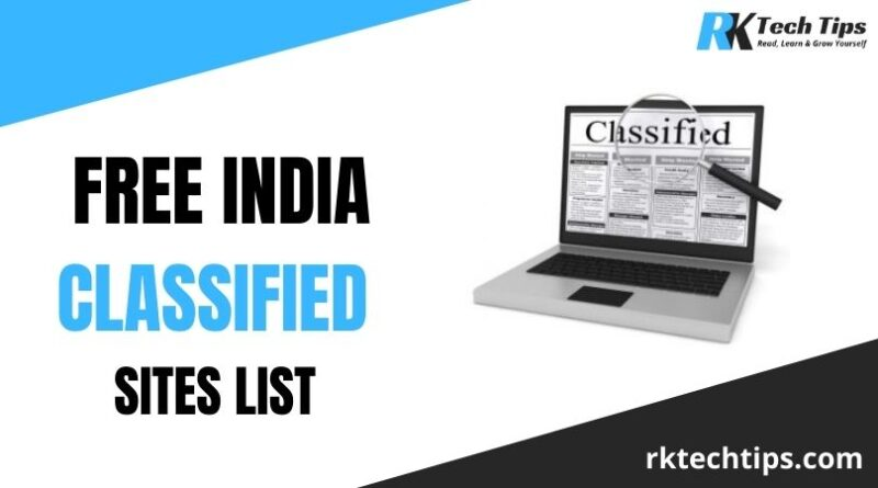 250+ Free India Classified Sites List 2021