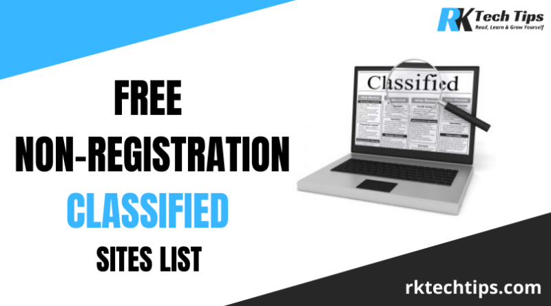 100+ Free Non-registration Classified Sites List 2021