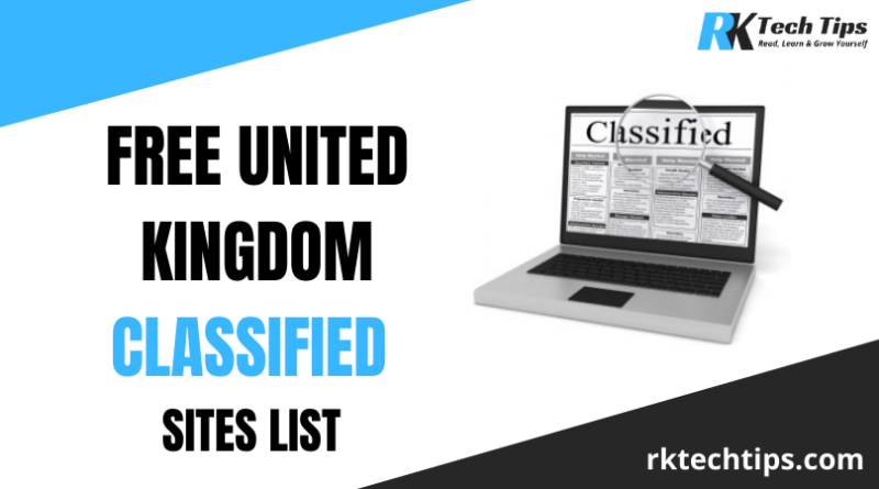 Top 140+ High Authority UK Classified Sites List 2021