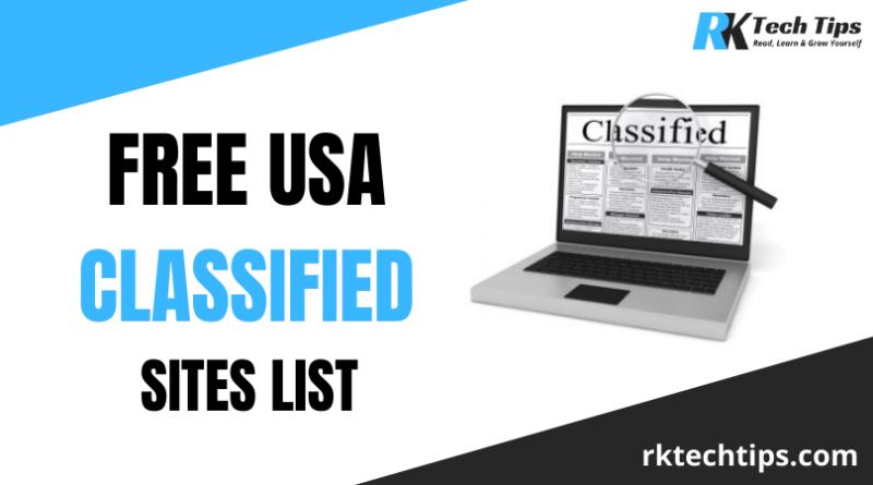 Top 170 + High PR USA Classified Sites List 2021